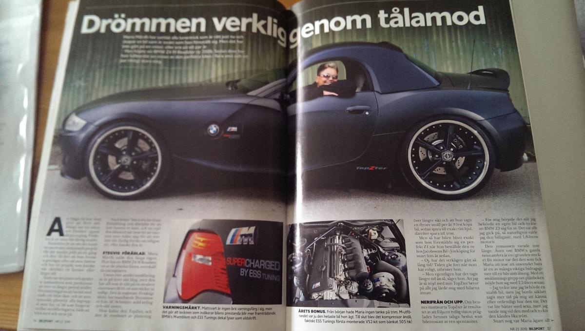 Historik Topzter Bmw Z4m Ess Roadster